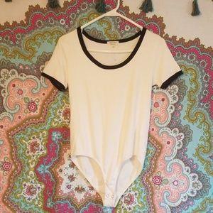 White with Black Bodycon/Bodysuit